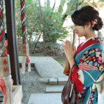 きものでお出かけ❤新春・京の祭事① 舞妓や女優が福笹を授与