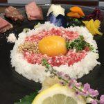 きものでランチ:堺町三条通下ル「おにくのおすし」で最高級ブランド・松阪牛を食す、リッチなランチを楽しんで